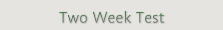 Two Week Test